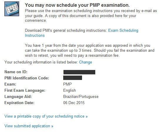 dúvidas frequentes sobre a certificação pmp® \u2013 dicas para aao receber seu e mail de confirmação de marcação do exame do pmi, verifique se este contém a seguinte informação